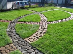cobblestone sidewalks